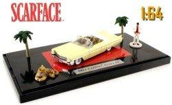 Modellino Collezione-1/64 Auto Scarface Cadillac 1963 Giallo+Personaggi