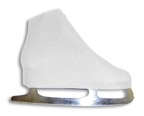 A&R Sports Lycra Ice Skate Boot Covers, White