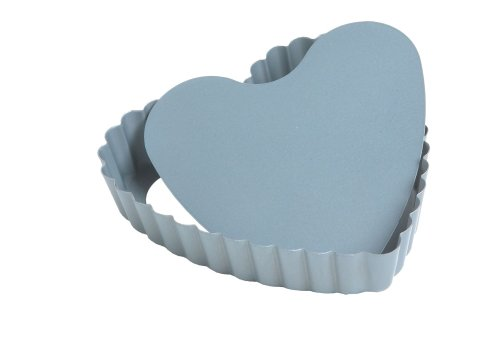 Fox Run 44492 4-Inch Preferred Non-Stick Mini Loose Bottom Heart Pan
