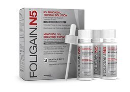 FOLIGAIN.N5® 5% MINOXIDIL LIQUID (Low Alcohol Formula) 3 months supply