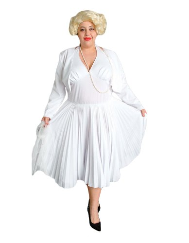 Deluxe Plus Size Adult Marilyn Monroe Theatrical Quality Costume