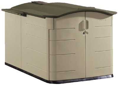 Rubbermaid+Garbage+Sheds Rubbermaid Slide-Lid Storage Shed 3752, Grey