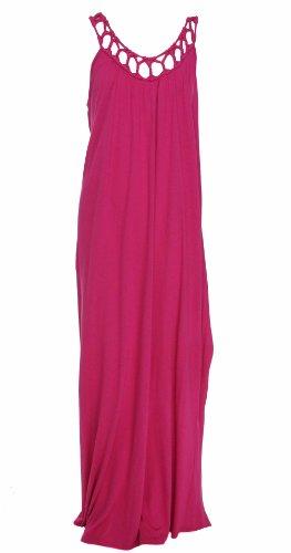 Michael Kors Women's Scoop Neck Dress Hot Pink XL