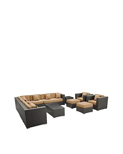 Modway Cohesion 11-Piece Outdoor Patio Sectional Set