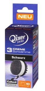 Qixer Shine Your Edition - Elektronisches Schuhpflegesystem 3er Creme Schwamm, Schwarz
