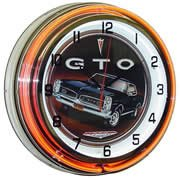 Gto, Neon Clock, Bright Double 18 Inch Neon back-14414