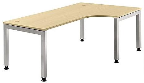 Regulable en altura escritorio J color (tablero): arce