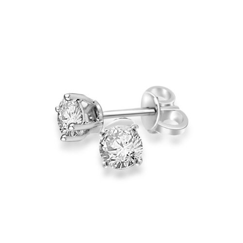 0.41ct H/SI1 Diamond Stud Earrings for Women with Round Brilliant Diamonds in 18ct White Gold