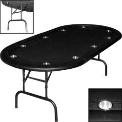 Texas Holdem Poker Table w/ Racetrack & Folding Legs This excellent Texas Holdem Poker from Trademark PokerTM is guaranteed to bring style and status to your game