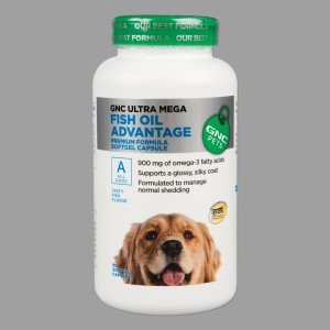 Gnc ultra mega fish oil advantage for dogs 90 softgel for Can i give my dog fish oil