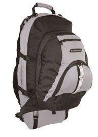 Travel Rucksack - 90 Litre Backpack with 25 Litre Daysack (Grey/Black)