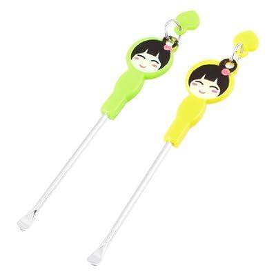 Cartoon Girl Pattern Earpick Earwax Ear Wax Remover Ears Care Tool 2 Pcs