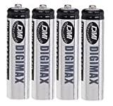 4pk Digimax Industrial AAA Rechargeable Batteries 750 mAh
