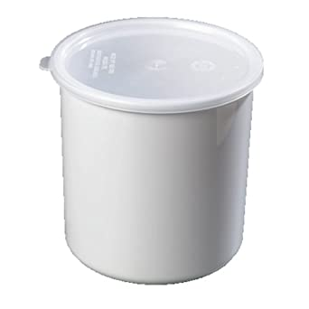 Carlisle 0302-302 Classic Crock with Lid, 2.7-qt., White (Case of 3)