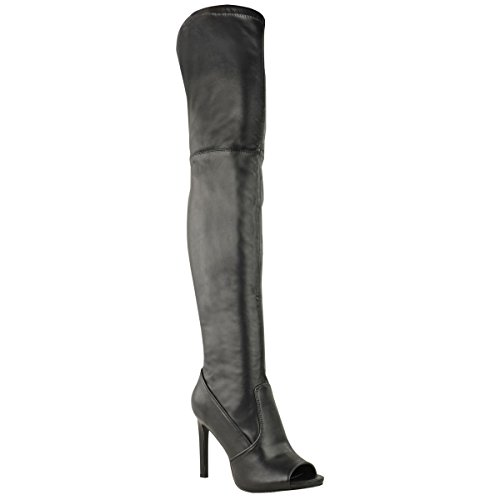 Fashion-Thirsty-Thigh-High-Over-The-Knee-Boots-Platform-High-Heels-Stretch-Size