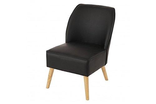 Sessel schwarz Spalt - Leder Polstersessel Loungesesel Vintage Ledersessel