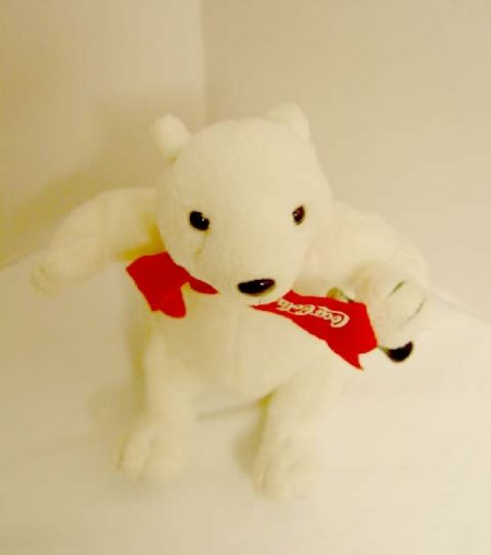 Officially Licensed Coca Cola Sitting Plush Polar