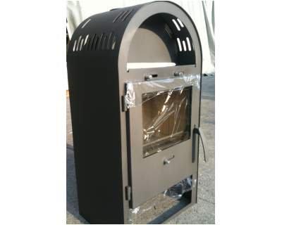Stufa legna caminetto camino acciaio braciere ghisa 6kw for Braciere elettrico per camino