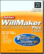 QUICKEN WILLMAKER PLUS 2008 (WIN 95,98,ME,2000,XP,VISTA)