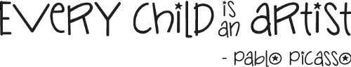 Every Child Is An Artist Pablo Picasso Vinyl Wall Art Wall Saying Matte Black front-1002036