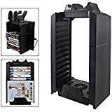 YICHUMY Multifunctional Cooling Fan Stand and PS4 Game Storage Tower Holder with Dualshock 4 charger For Playstation 4 Console ps4 cooling stand ps4 game disk holder