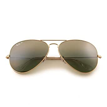 Ray-Ban Unisex RB3025 Aviator Polarized Sunglasses 62mm