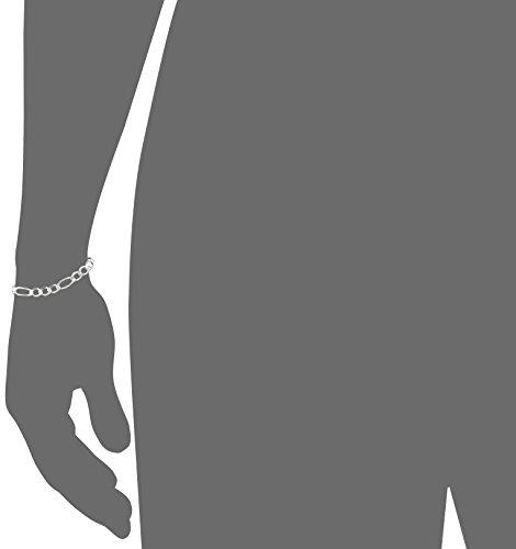 Men's Sterling Silver Wide Figaro Link Bracelet
