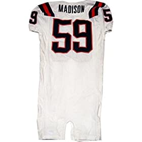 # 59 Madison Syracuse 2006 Game Used White Football Jersey - Footballs