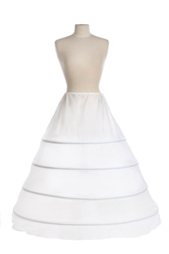 New 4 Bone Hoop Bridal Drawstring Petticoat Crinoline Wedding Gown Slip