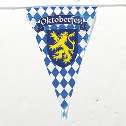 100 Foot Oktoberfest Pennant Banner from Jeirles Wholesale