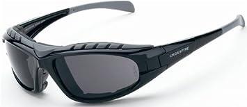 c2054b590e 12 Pack Crossfire 2761AF Diamond Back Safety Glasses Smoke Anti-fog Lens -  Shiny Black Frame