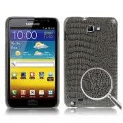 Crocodile Skin Paste Style Plastic Case for Samsung Galaxy Note / i9220 / N7000, Note LTE / N7005 (Black)