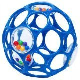 Oball With Rattle Toy - Blue by Mary Meyer