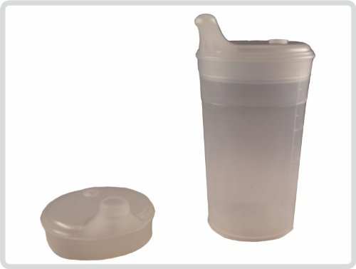 Schnabelbecher mit Deckel für Tee und Brei/ mit kurzem Mundstück Farbe: Transparent *Top-Qualität*