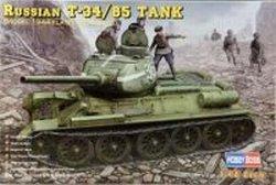 Russian Tank Hobby Boss 1/48 Russian T-34/85 1944 Flattened Turret