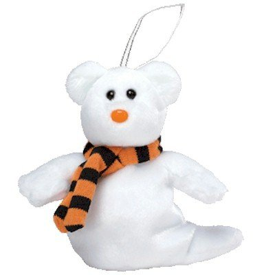Ty Halloweenie Beanie - Quivers the Ghost Bear - 1