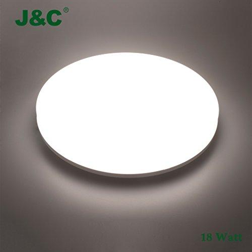 Aethlux Bianco Mist Lampada Bagno Soffitto LED, 18W Circolare Diam. 28 cm, IP44 4000K~4500K Luce ...