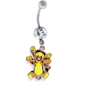Hello Kitty Belly Button Rings Tigger From Winnie The Pooh Crystal