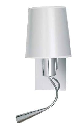 aluminor asset wandleuchte e14 mit led leselampe 1 w us23. Black Bedroom Furniture Sets. Home Design Ideas