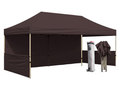 Eurmax Premium 10X20 Pop Up Tent Canopy Craft Display Trade Show Tent Portable Booth Market Stall,Color|Brown front-1071450