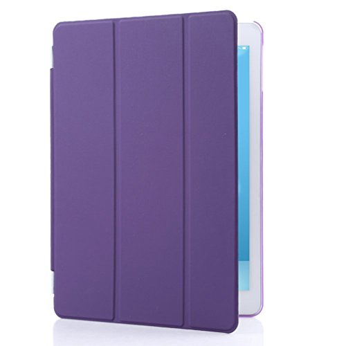 Granvela® Ultra-Thin Magnetic Smart Cover & Clear Back Case For Ipad Air (5Th Generation) + Screen Protector + Stylus + Cleaning Cloth + Dust-Proof Plug -- Purple front-343509