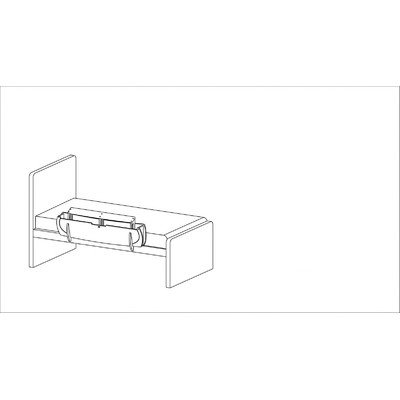 Noah'S Ark Bed Rail Size: Medium, Color: Birch