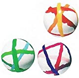 スーパーボール ストライプボール (27mm) 125個入  / お楽しみグッズ(紙風船)付きセット