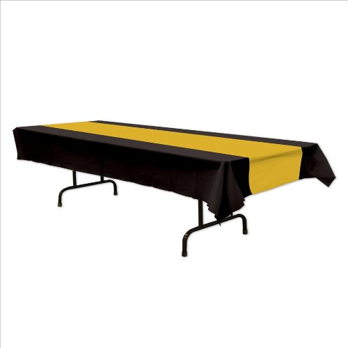 Black & Gold Table Cover Party Accessory from SteelerMania