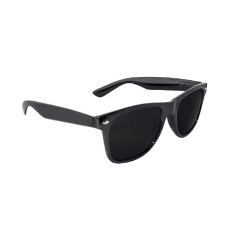 Black Lens Wayfarer Style Sunglasses - Unisex Shades UV400