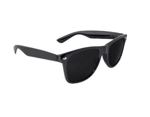 Black Lens Wayfarer Style Sunglasses - Very low price, highly rated by customers. UV400 protection.