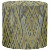 Howard Elliott 851-198 Ikat No Tip Cylinder Ottoman, Willow