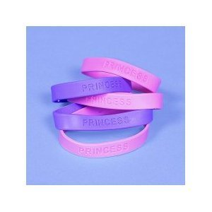12 Princess Rubber Bracelets