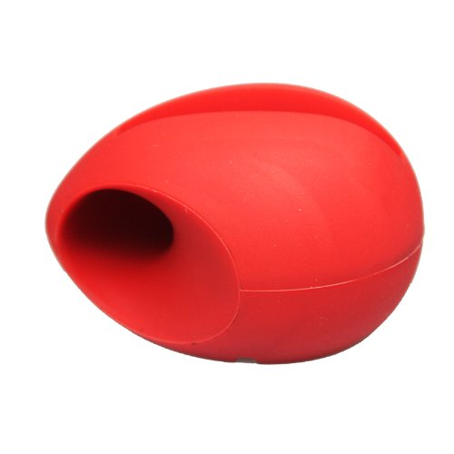 Niceeshop(Tm) Red Egg Shaped Silicon Stand Amplifier For Iphone 5 5S With Accessory Cable Tie