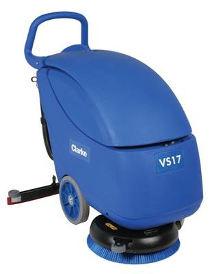 """Clarke 56383228 Vantage 17 Battery Operated Compact Autoscrubber, 17"""" Scrub Path, Includes Pad Driver, (2) 12V 80Ah Gel Batteries"""